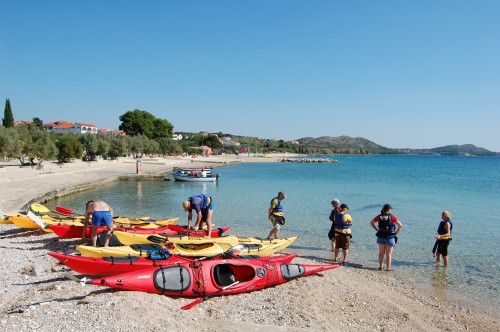 5 Practice day in Pakostane our kayak base Croatia