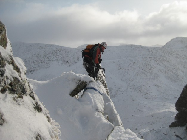 Mountianeering Forcan Ridge traverse