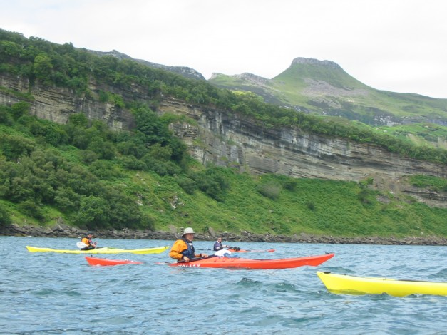 Volcanic scenery on south Isle of Raasay Inner Sound paddling July 2007